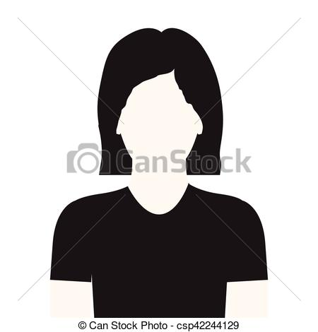 Short Hair clipart man's face Short without body monochrome hair