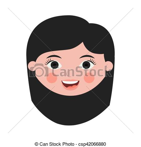 Short Hair clipart man's face Hair hair woman front short