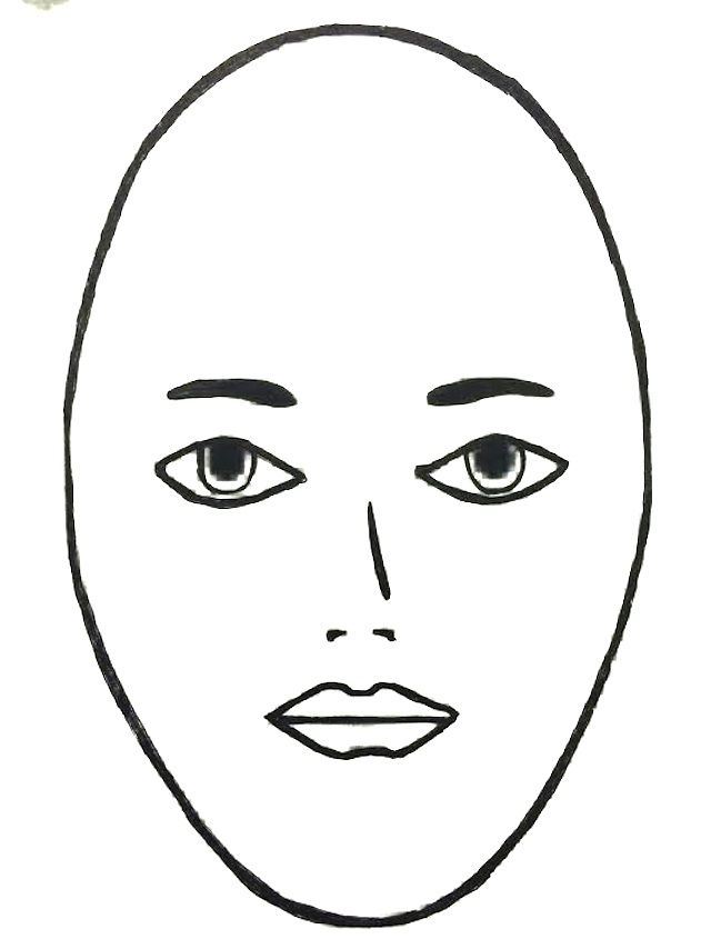 Short Hair clipart round face Round about What for Pinterest