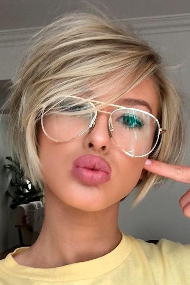 Short Hair clipart round face Round Pinterest 30 face Round