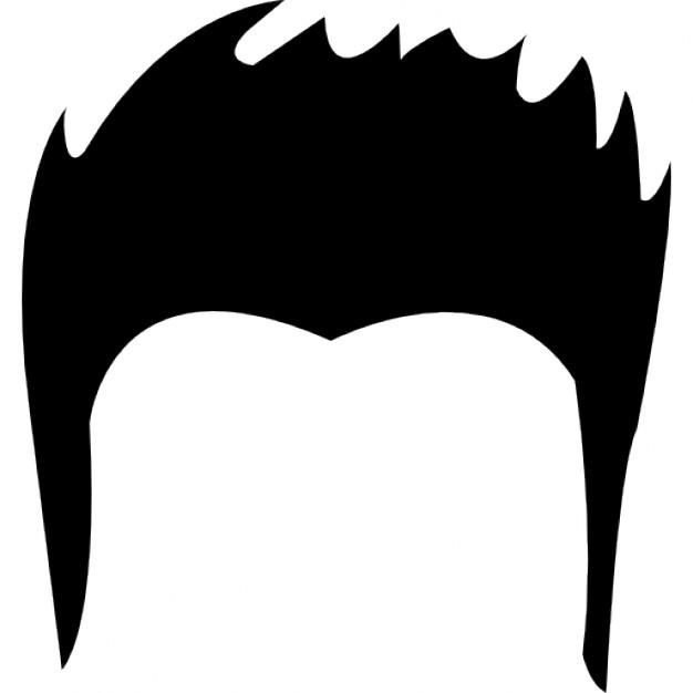 Black Hair clipart mens hair Shape hair Young Free Young