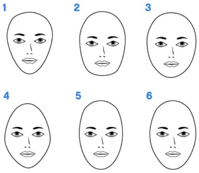 Squares clipart square face Round What Round Oval? Heart