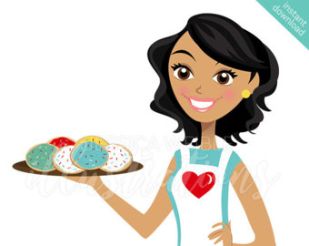 Short Hair clipart teacher Cookies with Illustration Baker Character