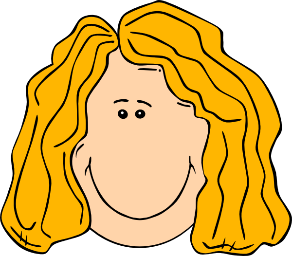Blonde clipart happy teacher Blond Clker Smiling Long at