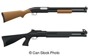 Shotgun clipart 2 Vector EPS Images 716
