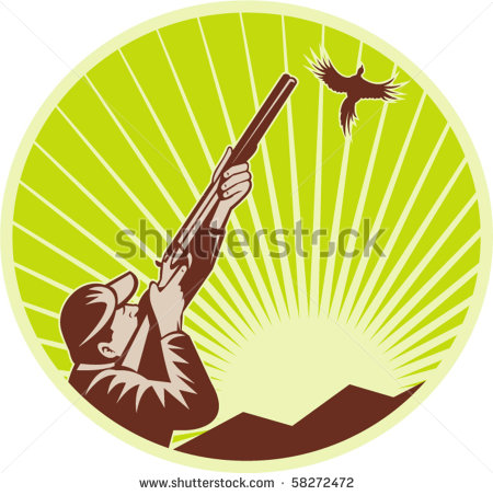 Shotgun clipart bird hunting A with rifle with of