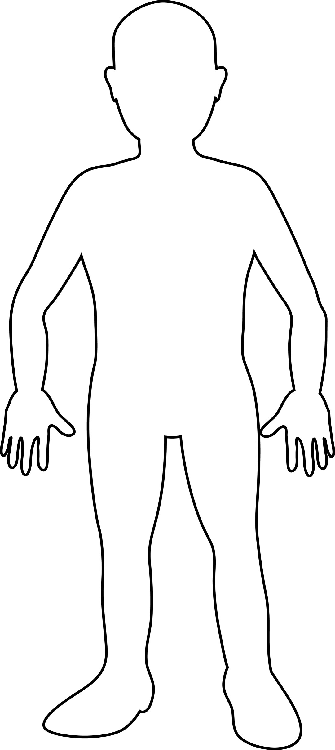 Shoulder clipart body outline Outlines outlines Pinterest body Cuerpo
