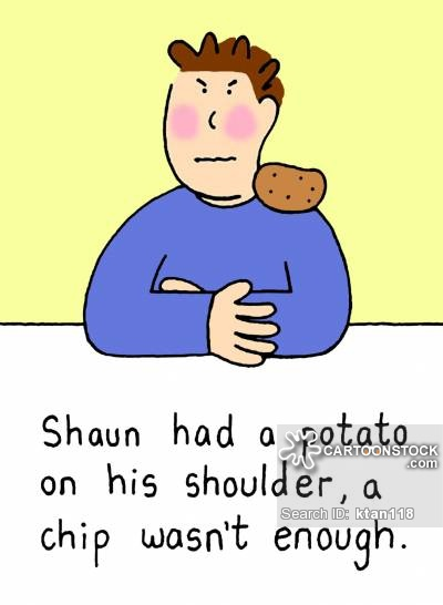 Shoulder clipart chip on Of funny Cartoons On Chip