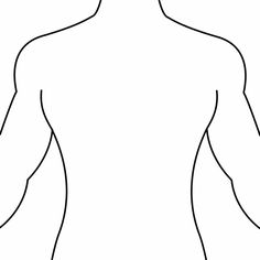 Shoulder clipart outline Template for measurements  useful