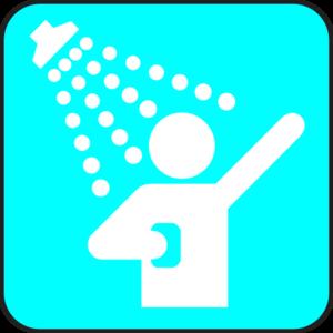 Shower clipart At Shower Blue Art Clker