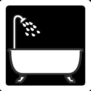 Bathtub clipart outline  Bath Art Shower Clip