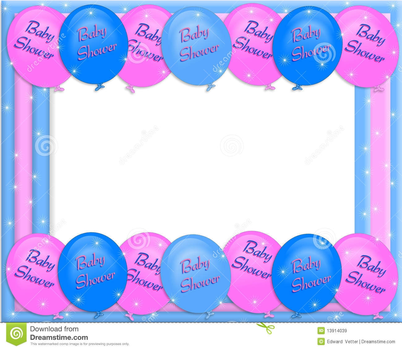 Footprint clipart baby shower Clipart Baby Clipart Shower Border