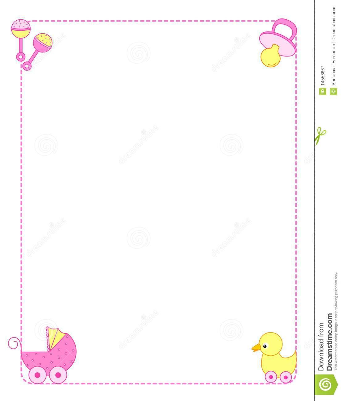 Child clipart boarder Clipart  shower art Baby