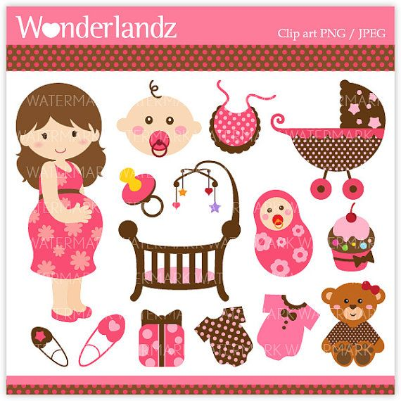 Mommy clipart baby shower #12