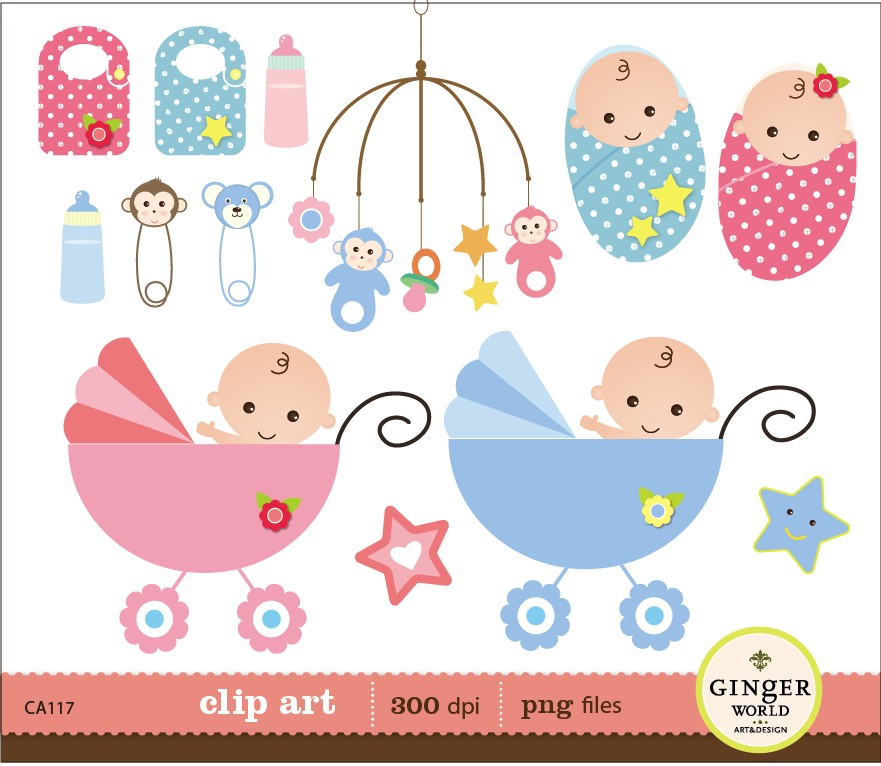 Baby clipart baby shower  Baby Boy shower of