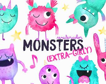 Winter clipart monster Monsters Cute Monster Farm Clipart