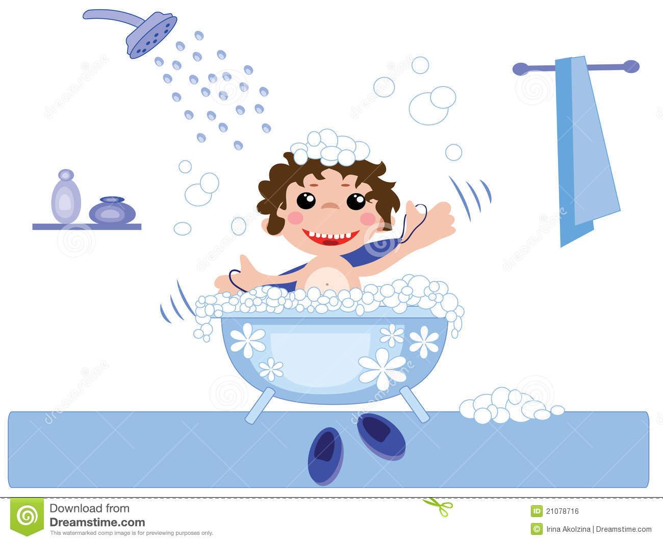 Bathroom clipart kid shower A To collection Bath Boy