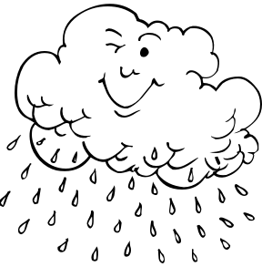 Thunderstorm clipart black and white Clipart Rain Free images Public