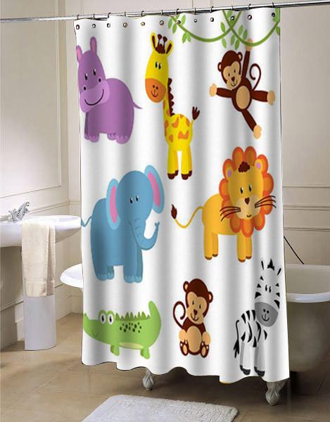Curtain clipart shower curtain Animals Animals curtain Clipart shower