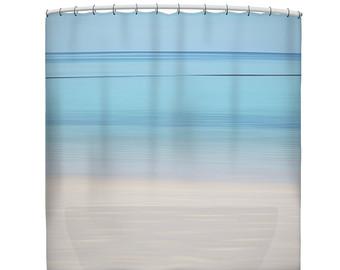Curtain clipart shower curtain Ocean shower beach curtain curtain