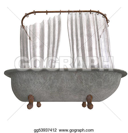 Curtain clipart shower curtain And 3d with rendering curtain