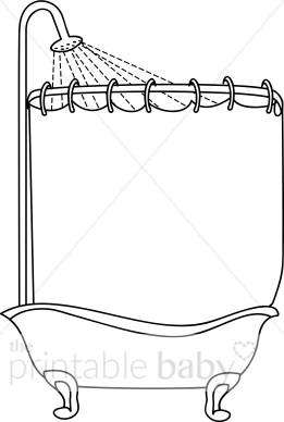 Curtain clipart shower curtain Shower Curtain Clip Art