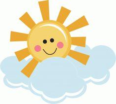 Clouds clipart happy sun Cuttables Categories Freebie Design Kate