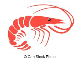 Shrimp clipart Graphics 6 Clipartby  Vector