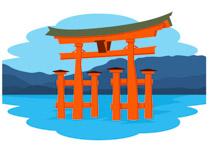 Shrine clipart Clipart Itsukushima Asia Miyajima for