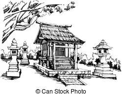 Shrine clipart Sketch  illustration Shrine 1