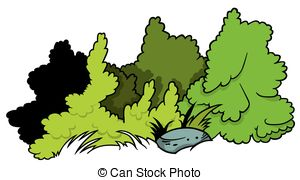 Small clipart shrub Boulder Shrubs Vector  and