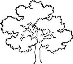 Shrub clipart black and white Oak black art white tree