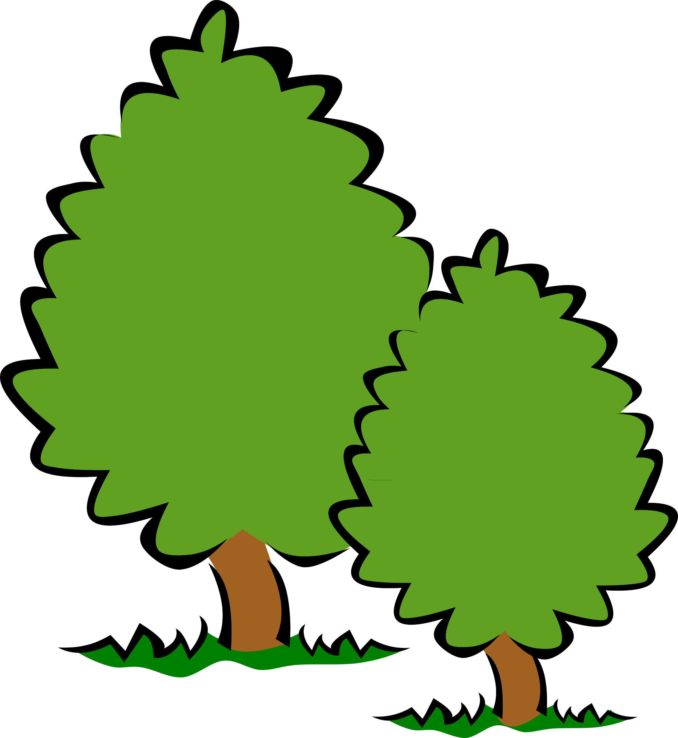 Tree clipart transparent background Bushes Clipground and trees Trees