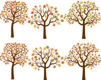 Tree clipart autum #7