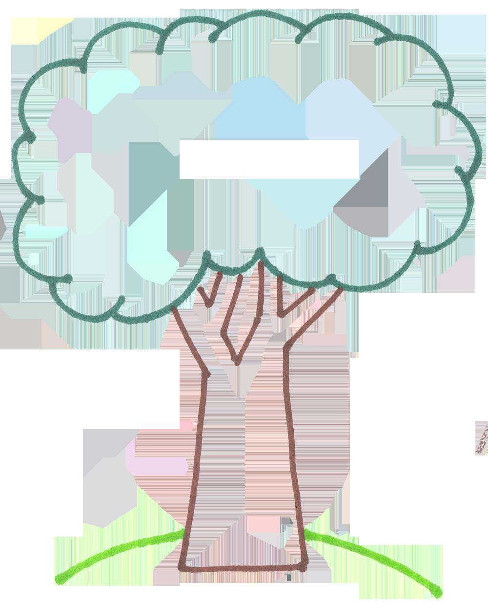Outline Free Tree Art Clip