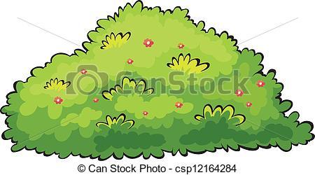 Shrub clipart tree Green of bush on a