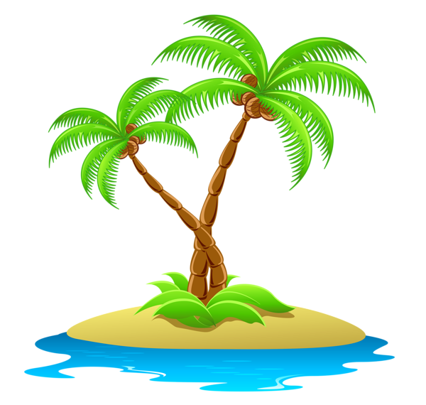 Eiland clipart palm tree beach Trees Trees with Island Palm