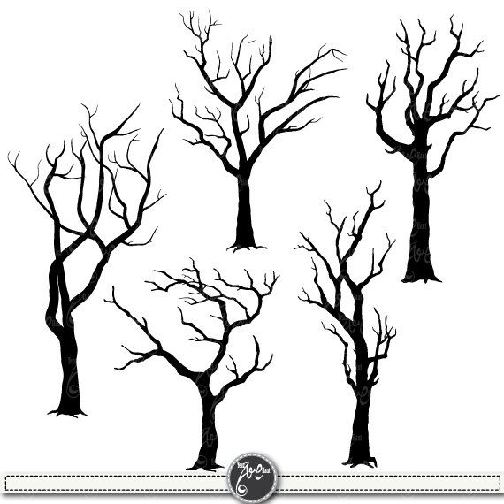 Wood clipart creepy Silhouettes Shrubs Forests Branchs clip
