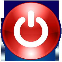 Shutdown Button clipart logo #4