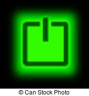 Shutdown Button clipart power supply #6