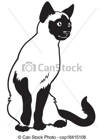 Siamese Cat clipart Siamese Cat drawings Cat #7