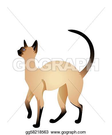 Siamese Cat clipart Stock  siamese Clipart gg58218563