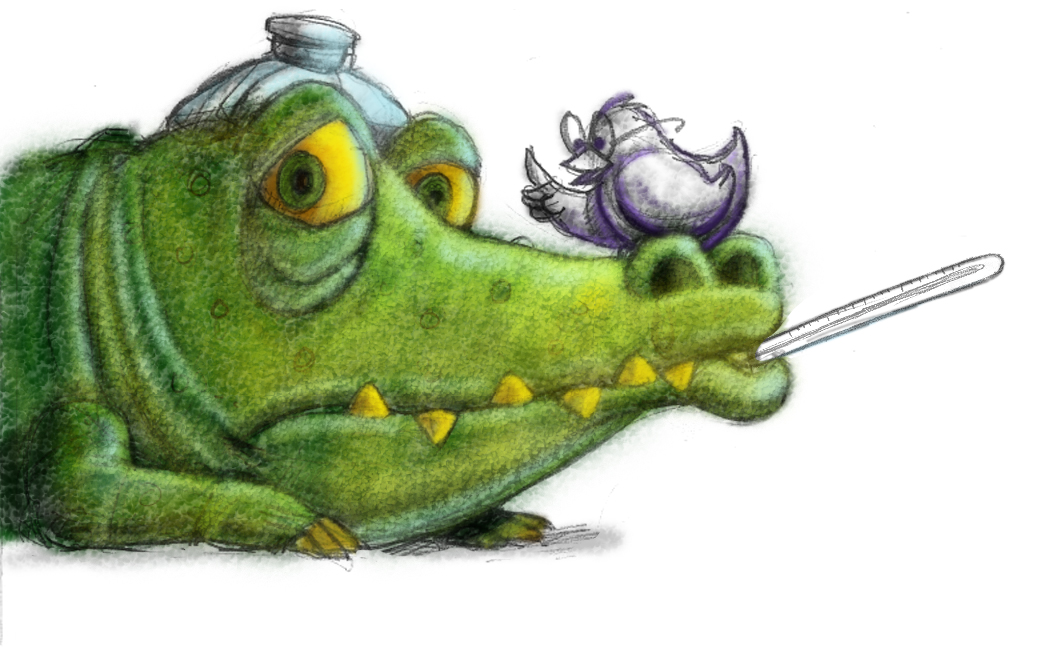 Sick clipart alligator By by varying width using