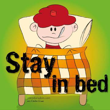 Sick clipart bed rest Bed stay word 3 Wisdom