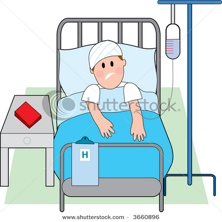 Sick clipart bed rest Cartoon Clip Hospital vector in
