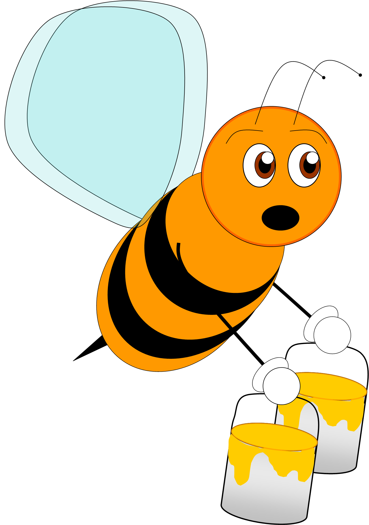 Bees clipart orange FreeClipart #1692 free Clip Bee