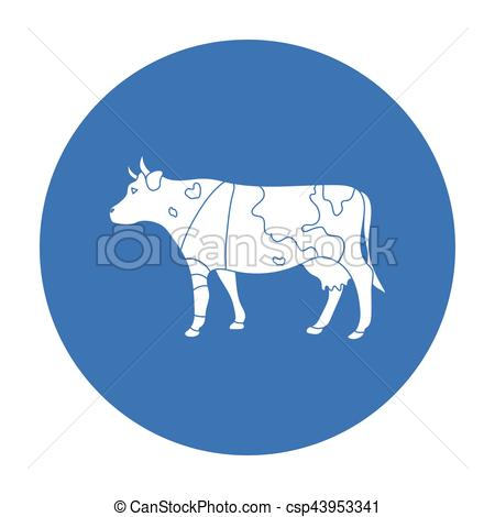 Sick clipart bull A in on style of