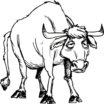 Sick clipart bull Dead Art Free Clip Cartoon