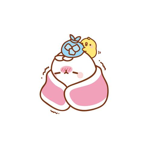 Sick clipart bunny Is  cute! #molang 몰랑이