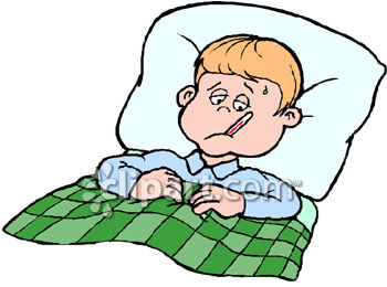 Bed clipart illness Clip Art Sick Free Clipart